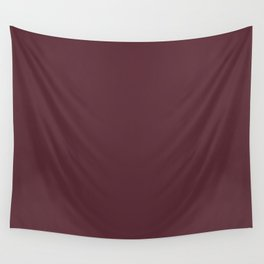 Pantone 19-1725 Tawny Port Wall Tapestry