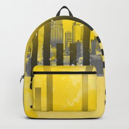 Yellow Abstract Passion Backpack