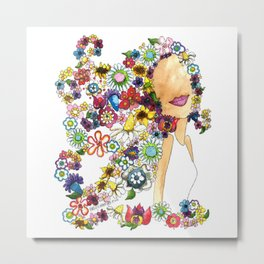 Flower Girl Two Metal Print