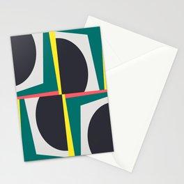 Modern Geometric 65 Green Stationery Cards