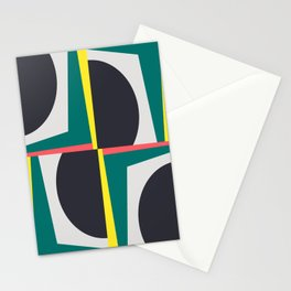 Modern Geometric 65 Green Stationery Cards