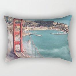 golden gate bridge in san francisco Rectangular Pillow