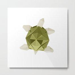 Origami Turtle Metal Print
