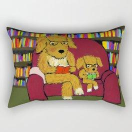 Reading dogs Rectangular Pillow
