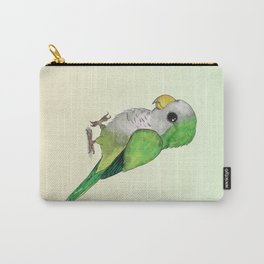 Very cute green parrot Carry-All Pouch