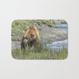 Brown Bear After His Dip Bath Mat