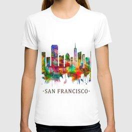 San Francisco California Skyline T-shirt