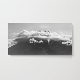 Volcano Misti in Arequipa Peru Covered with Clouds Metal Print