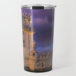 Torre de Belem, Lisbon, at dusk Travel Mug