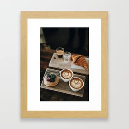 Latte + Pastries Framed Art Print