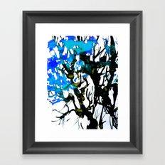 Blue ash Framed Art Print