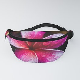 Raindrops on Pink Plumerias Fanny Pack
