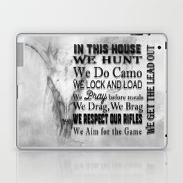 Hunter's In this House Sign Laptop & iPad Skin