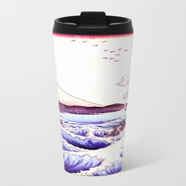 The GREAT Wave : Violet Purple Travel Mug