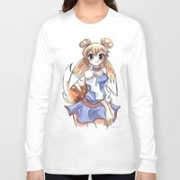 eevee Long Sleeve T-shirts featuring Eevee Gijinka by Elena Ceccotti