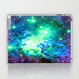 Fox Fur Nebula BRIGHT : Green Blue Purple Galaxy Laptop & iPad Skin