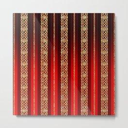 Viking red Metal Print