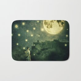 rooftops mystery night Bath Mat