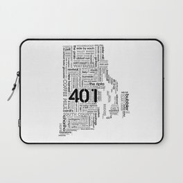 Rhode Island Word Map Laptop Sleeve