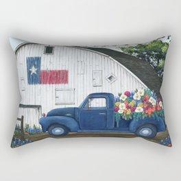 Texan Flower Farm Truck Rectangular Pillow