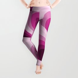 Pink Feathers Leggings