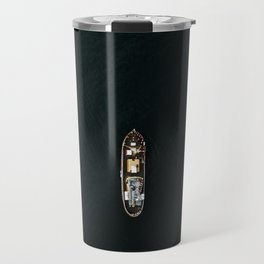 Iceland Ship from Above - Ocean Photography Travel Mug
