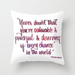 Never doubt pink Throw Pillow