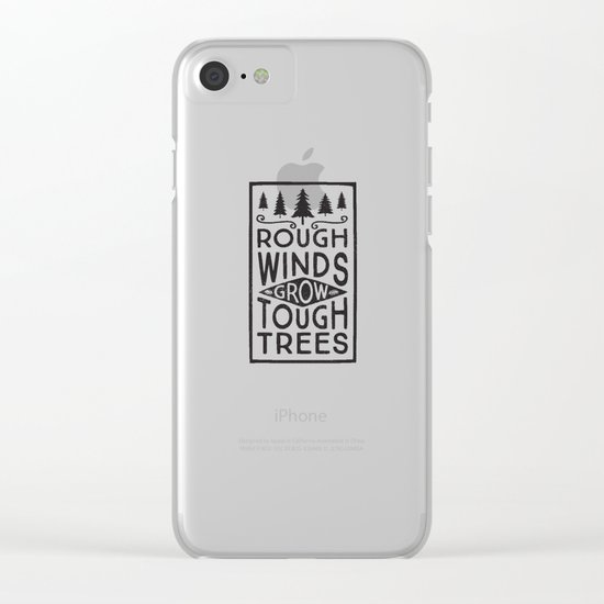 TOUGH TREES Clear iPhone Case