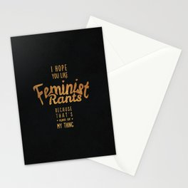 I hope you like feminist rants - black & gold Stationery Cards