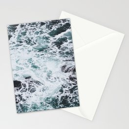 OCEAN - ROCKS - FOAM - SEA - PHOTOGRAPHY - NATURE Stationery Cards