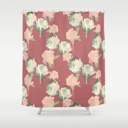 Painted Roses by Katrina Ward Shower Curtain