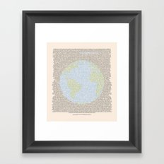 Environmental Consciousness Framed Art Print