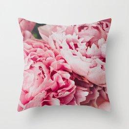 PEONY CLUSTER Throw Pillow