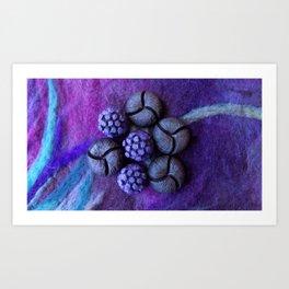 Purple fantasy flower Art Print