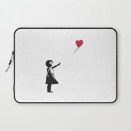 Girl with Balloon - copy of Banksy work Laptop Sleeve