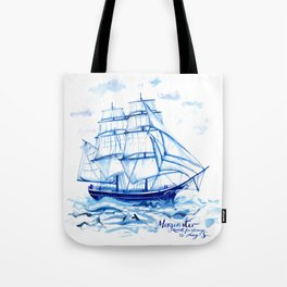 Set the sails! All aboard the Morgenster Tote Bag