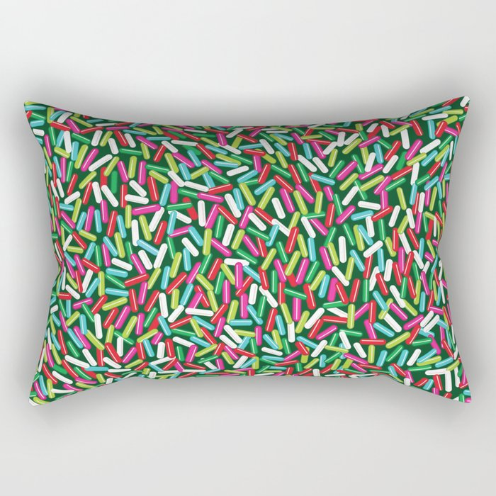 Encrusted With Sprinkles (Holiday Edition) Rectangular Pillow