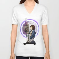 bioshock V-neck T-shirts featuring Bioshock Infinite: Freedom  by Daydreams and Giggles Studios