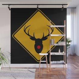 Reindeer Crossing Wall Mural