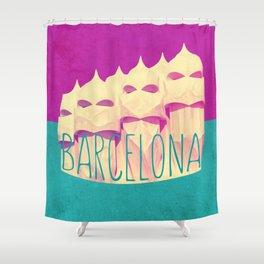 Barcelona Gaudi Paradise Shower Curtain