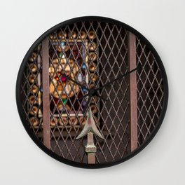 Mausoleum Stained Glass Wall Clock