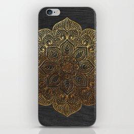 Wood Mandala - Gold iPhone Skin
