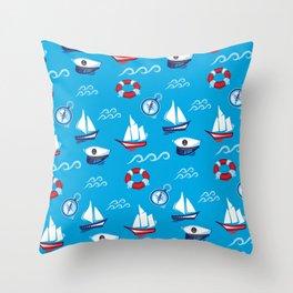 Sea Retro Pattern Throw Pillow
