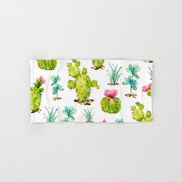 Green Cactus Watercolor Hand & Bath Towel