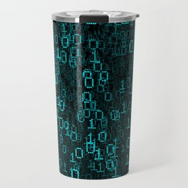 Binary Data Cloud Travel Mug
