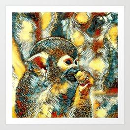 AnimalArt_Monkey_20180203_by_JAMColors Art Print