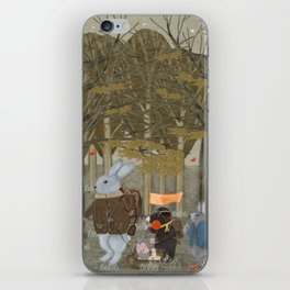 a little woodland adventure iPhone Skin