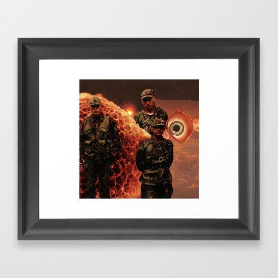 Series A: Sentries Framed Art Print