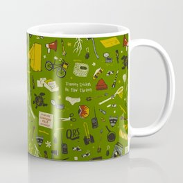 Moonrise Kingdom Plot Pattern Coffee Mug