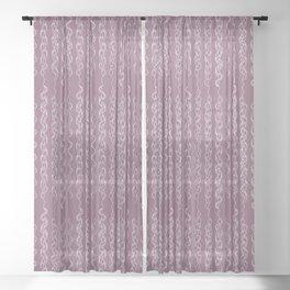 Braids XI - Purple Grape Sheer Curtain